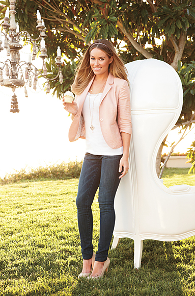 Lauren Conrad Necklace Gold. necklace in rose gold.