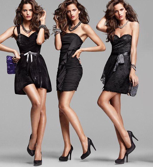 three-models-little-black-dress-express